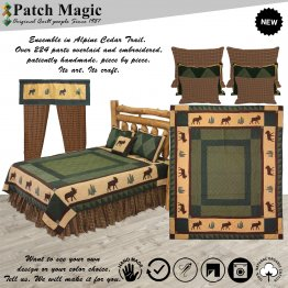 Alpine Cedar Trail Luxury King Quilt Set of 5 Pieces