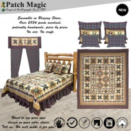 Blazing Stars Luxury King Quilt Set of 5 Pieces
