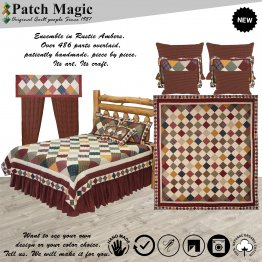Rustic Ambers Luxury King Bedding (Set of 8 Pieces)